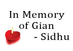 In Memory of Gian… Sidhu